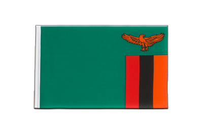 Little Flag Zambia - 6x9""
