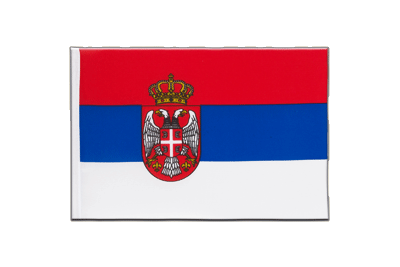 Little Flag Serbia with crest - 6x9""
