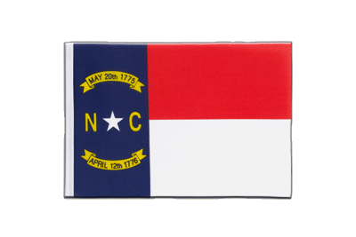 Little North Carolina Flag 6x9""