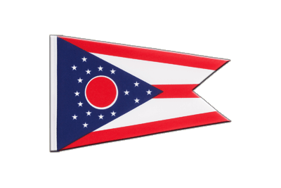 Little Flag Ohio - 6x9""