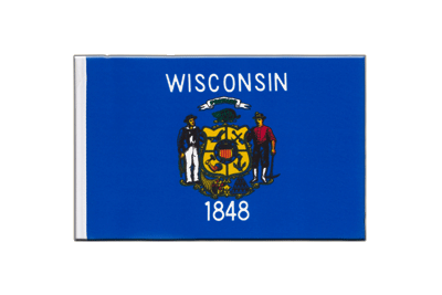 Wisconsin Mini Flag - 6x9""
