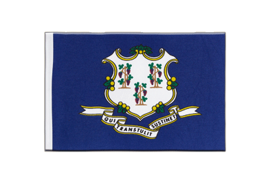 Connecticut Flagge - 15 x 22 cm Satin