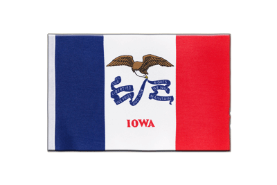 Satin Flag Iowa - 6x9""