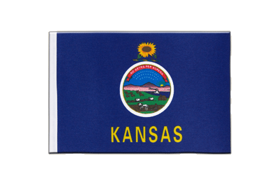 Satin Flag Kansas - 6x9""