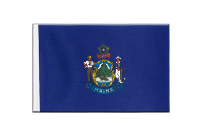 Satin Flag Maine - 6x9""