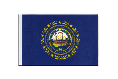 Petit drapeau en satin New Hampshire 15x22 cm