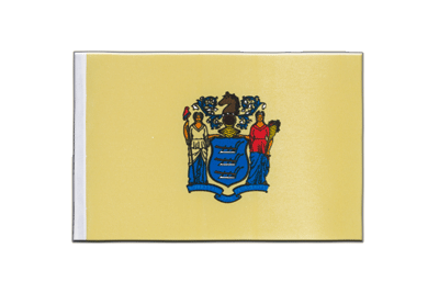 New Jersey - Satin Flagge 15 x 22 cm
