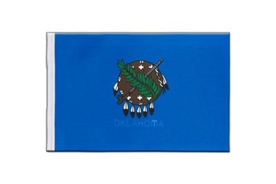 Satin Flag Oklahoma - 6x9""