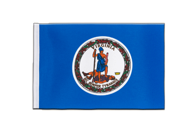 Satin Flag Virginia - 6x9""