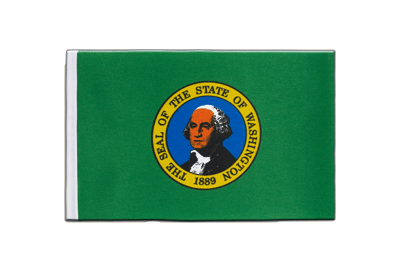 Satin Flagge Washington - 15 x 22 cm