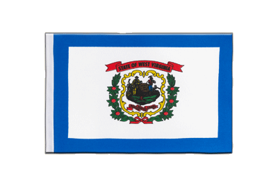 Satin Flag West Virginia - 6x9""