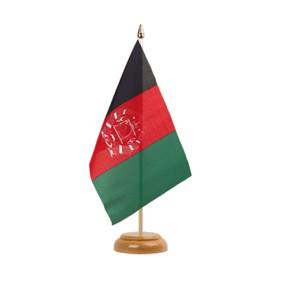 "Table Flag Afghanistan - 6x9"" (15 x 22 cm), wooden"