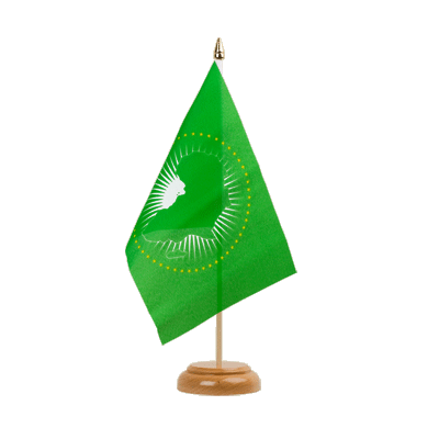 "African Union AU Table Flag - 6x9"" (15 x 22 cm), wooden"