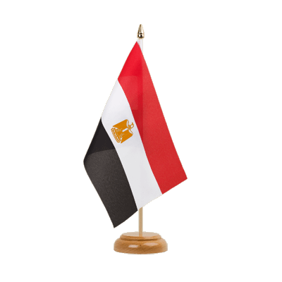 "Table Flag Egypt - 6x9"" (15 x 22 cm), wooden"