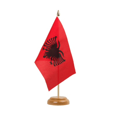 "Table Flag Albania - 6x9"" (15 x 22 cm), wooden"