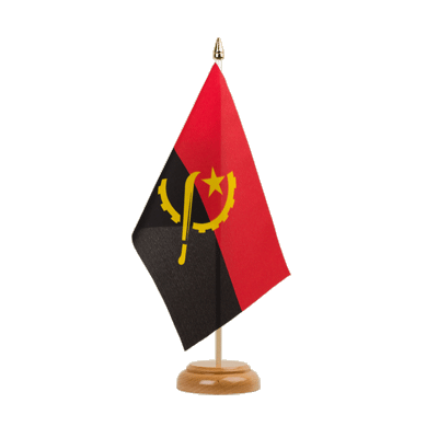 "Table Flag Angola - 6x9"" (15 x 22 cm), wooden"