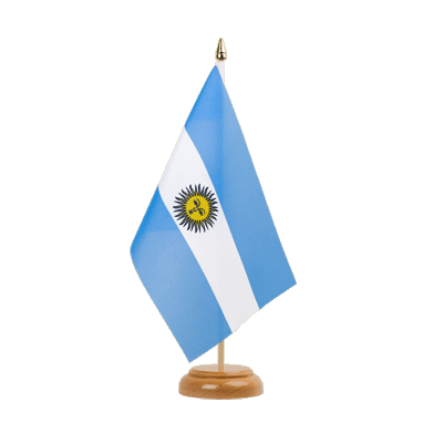 "Table Flag Argentina - 6x9"" (15 x 22 cm), wooden"