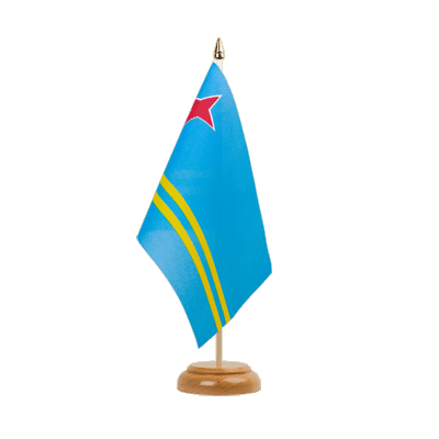 "Desk and Table Flag Aruba - 6x9"" (15 x 22 cm), wooden"