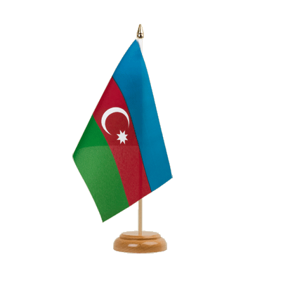 "Table Flag Azerbaijan - 6x9"" (15 x 22 cm), wooden"