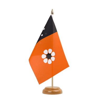 Northern Territory - Holz Tischflagge 15 x 22 cm
