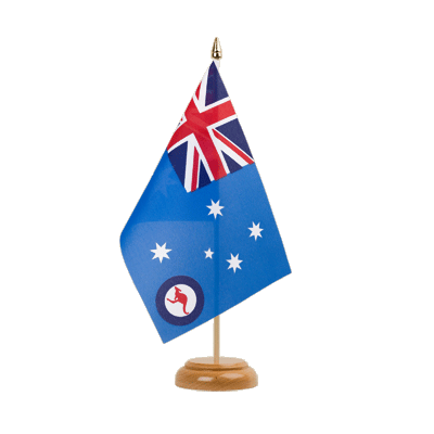 Drapeau de table Royal Australian Air Force 15x22 cm, bois
