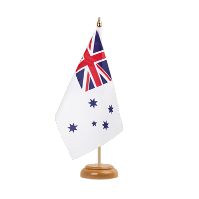 Drapeau de table Royal Australian Navy 15x22 cm, bois