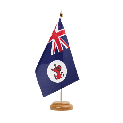 "Tasmania Table Flag 6x9"", wooden"