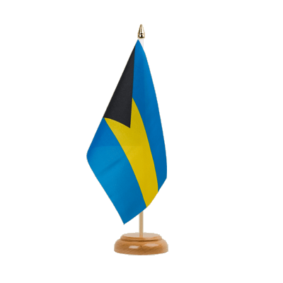 "Bahamas Table Flag 6x9"", wooden"