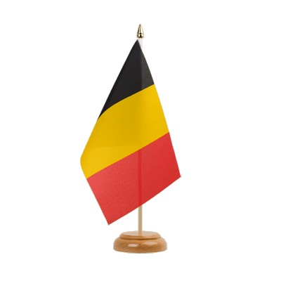 "Table Flag Belgium - 6x9"" (15 x 22 cm), wooden"