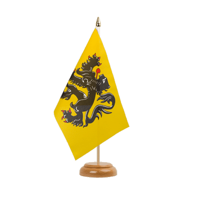 "Desk and Table Flag Belgium Flanders - 6x9"" (15 x 22 cm), wooden"