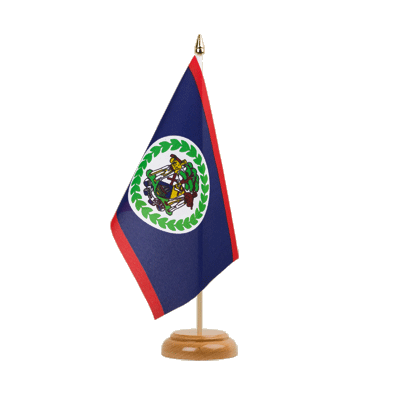 "Desk and Table Flag Belize - 6x9"" (15 x 22 cm), wooden"