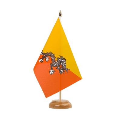 "Bhutan Table Flag 6x9"", wooden"