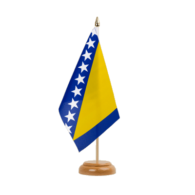 "Bosnia-Herzegovina Table Flag - 6x9"" (15 x 22 cm), wooden"