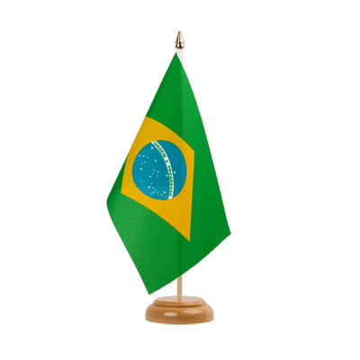 "Table Flag Brazil - 6x9"" (15 x 22 cm), wooden"