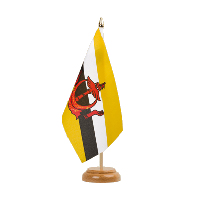 "Table Flag Brunei - 6x9"" (15 x 22 cm), wooden"
