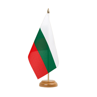 "Desk and Table Flag Bulgaria - 6x9"" (15 x 22 cm), wooden"