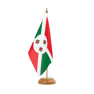 "Table Flag Burundi - 6x9"" (15 x 22 cm), wooden"