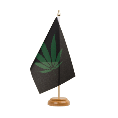 Drapeau de table Cannabis Reggae 15x22 cm, bois
