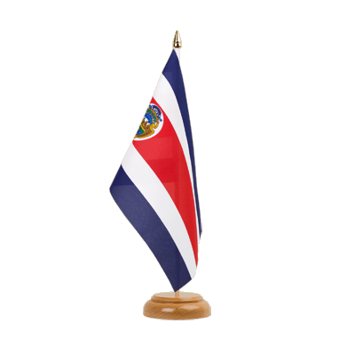 "Table Flag Costa Rica - 6x9"" (15 x 22 cm), wooden"