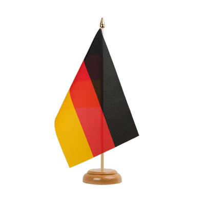 "Desk and Table Flag Germany - 6x9"" (15 x 22 cm), wooden"