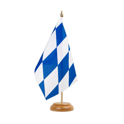 "Table Flag Bavaria without crest - 6x9"" (15 x 22 cm), wooden"