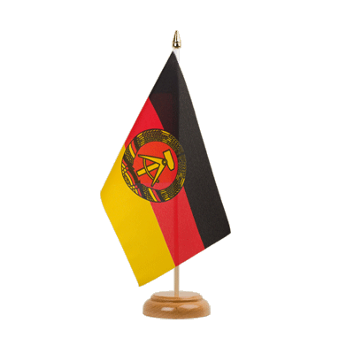 "Table Flag GDR - 6x9"" (15 x 22 cm), wooden"