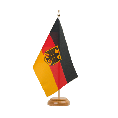 "Desk and Table Flag Germany Dienstflagge - 6x9"" (15 x 22 cm), wooden"