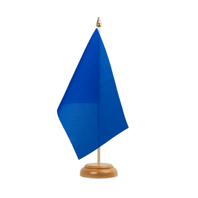 "Desk and Table Flag blue - 6x9"" (15 x 22 cm), wooden"