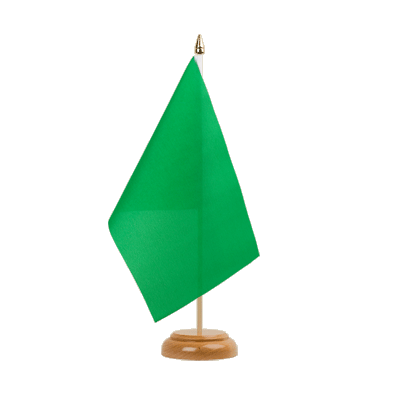 "Table Flag green - 6x9"" (15 x 22 cm), wooden"