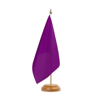 "Table Flag Purple - 6x9"" (15 x 22 cm), wooden"