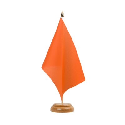 "Table Flag orange - 6x9"" (15 x 22 cm), wooden"
