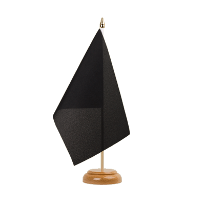 "Table Flag black - 6x9"" (15 x 22 cm), wooden"