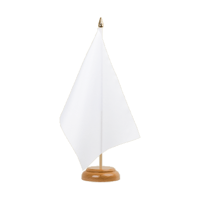 "white Table Flag 6x9"", wooden"