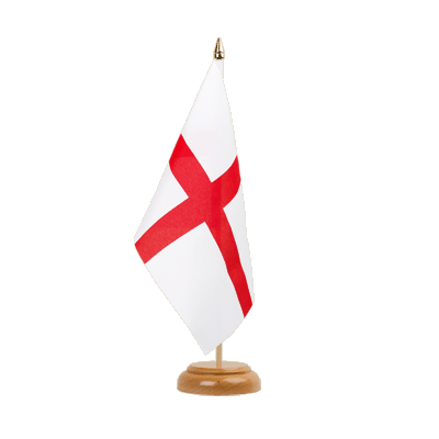 "England St. George Table Flag 6x9"", wooden"